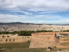 View of Barcelona from the top of the fort